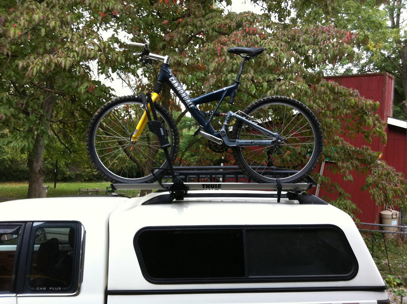 Bike Racks For Trucks With Toppers Truck Cab amp Camper Shell Roof