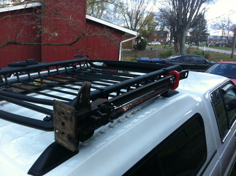 Bike Racks For Trucks With Toppers Roof rack rails from a Isuzu